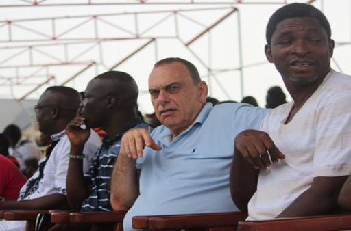 Avram Grant and Konadu at Dansoman