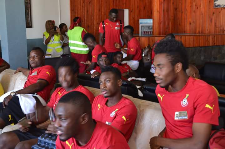 Black Stars wait on at the arrival hall - Moroni airport