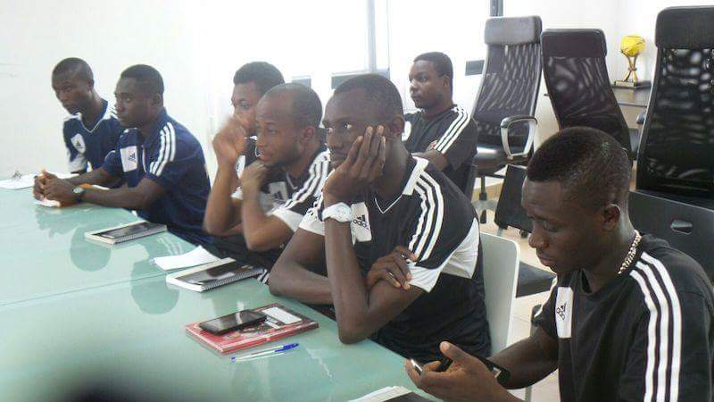 WAFA technical staff paying attention