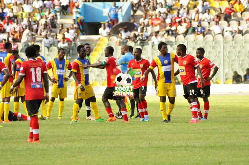 Kotoko v Hearts players - Copyright @ Stephen Amos
