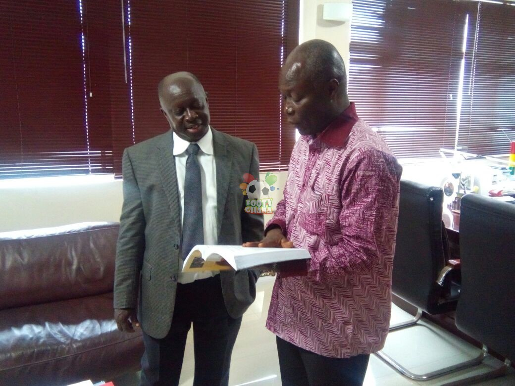 Sports Minister NLV and SWAG Prez Kwabena Yeboah