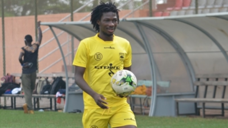 Special Competition: Kotoko talisman Songné Yacouba commences training ahead of Hearts clash