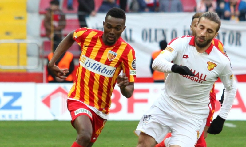 Kayserispor sink Goztepe with late Bernard Mensah volley - Footy ...